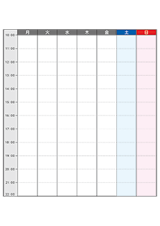 週間カレンダーチラシデザインテンプレート