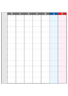 週間カレンダーミニポスターデザインテンプレート