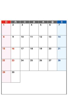 月間カレンダーチラシデザインテンプレート0375