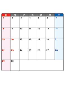 月間カレンダーチラシデザインテンプレート0383