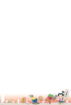 チラシ A5(フリー)デザインテンプレート0188