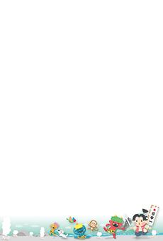 チラシ A5(フリー)デザインテンプレート0189
