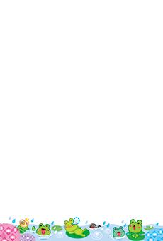 チラシ A5(フリー)デザインテンプレート0192