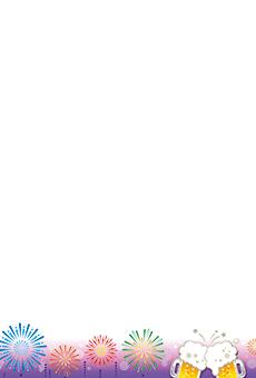 チラシ A5(フリー)デザインテンプレート0201