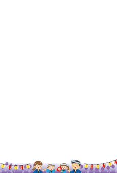 チラシ A5(フリー)デザインテンプレート0214