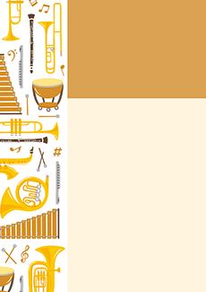 コンサート・イベントのチラシデザインテンプレート(A4チラシのデザイン(CH-E-0021))