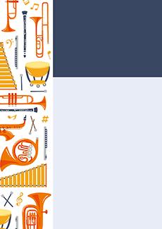コンサート・イベントのチラシデザインテンプレート(A4チラシのデザイン(CH-E-0022))