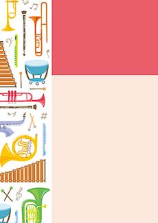 コンサート・イベントのA3ポスターのデザインテンプレート(A3のデザイン(MP-E-0024))