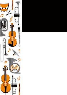 コンサート・イベントのチラシデザインテンプレート(A4チラシのデザイン(CH-E-0025))