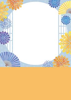 和風柄のイベントチラシデザインテンプレート