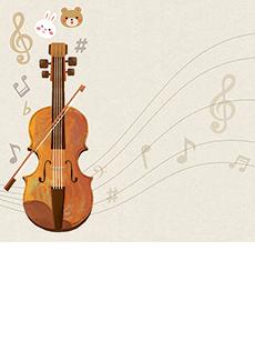 ピアノ・バイオリンの発表会、イベントチラシデザインテンプレート
