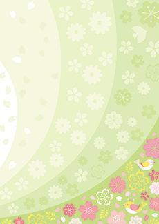 春のイベントチラシデザインテンプレート