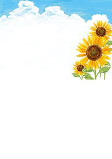 夏・七夕・ひまわり・星空・水族館・イベントのチラシデザインテンプレート(A4チラシのデザイン(CH-E-0117))