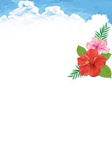 夏・七夕・ひまわり・星空・水族館・イベントのチラシデザインテンプレート(A4チラシのデザイン(CH-E-0118))