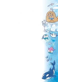 夏・七夕・ひまわり・星空・水族館・イベントのチラシデザインテンプレート(A4チラシのデザイン(CH-E-0123))