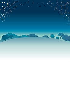 夏・七夕・ひまわり・星空・水族館・イベントのチラシデザインテンプレート(A4チラシのデザイン(CH-E-0125))