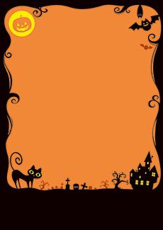 秋・ハロウィーン・紅葉・お月見・イベントのA3ポスターのデザインテンプレート(A3のデザイン(MP-E-0129))
