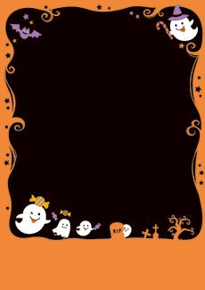 秋・ハロウィーン・紅葉・お月見・イベントのチラシデザインテンプレート(A4チラシのデザイン(CH-E-0131))