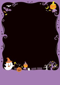 秋・ハロウィーン・紅葉・お月見・イベントのA3ポスターのデザインテンプレート(A3のデザイン(MP-E-0132))