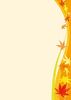 秋・ハロウィーン・紅葉・お月見・イベントのA3ポスターのデザインテンプレート(A3のデザイン(MP-E-0137))