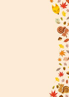 秋・ハロウィーン・紅葉・お月見・イベントのチラシデザインテンプレート(A4チラシのデザイン(CH-E-0139))