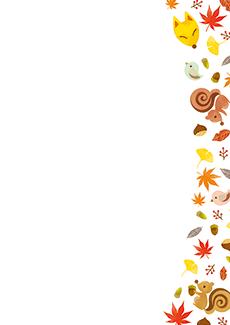 秋・ハロウィーン・紅葉・お月見・イベントのチラシデザインテンプレート(A4チラシのデザイン(CH-E-0140))
