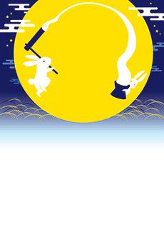 秋・ハロウィーン・紅葉・お月見・イベントのA3ポスターのデザインテンプレート(A3のデザイン(MP-E-0141))