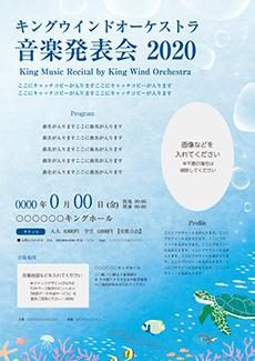 コンサート・イベントのチラシデザインテンプレート(A4チラシのデザイン(CH-E-Z0201))
