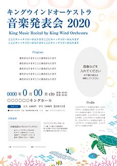 コンサート・イベントのチラシデザインテンプレート(A4チラシのデザイン(CH-E-Z0204))