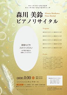 コンサート・イベントのA3ポスターのデザインテンプレート(A3のデザイン(MP-E-Z0211))
