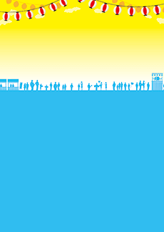 夏祭り・ビアガーデン 集客チラシ_デザインテンプレート画像0047