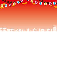 夏祭り・ビアガーデン 集客チラシ_デザインテンプレート画像0048