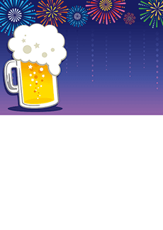 夏祭り・ビアガーデン 集客チラシ_デザインテンプレート画像0049