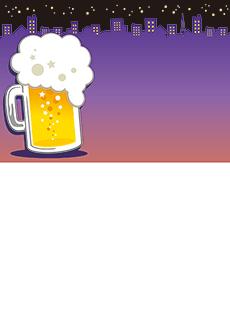 夏祭り・ビアガーデン 集客チラシ_デザインテンプレート画像0050