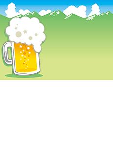 夏祭り・ビアガーデン 集客チラシ_デザインテンプレート画像0051