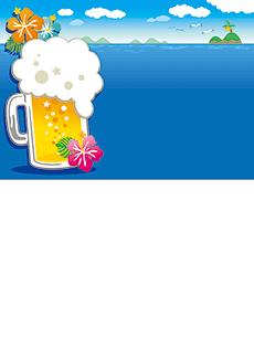夏祭り・ビアガーデン 集客チラシ_デザインテンプレート画像0052