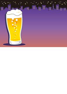 夏祭り・ビアガーデン 集客チラシ_デザインテンプレート画像0054