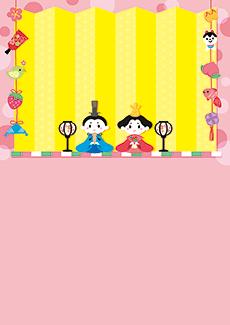 ひな祭り・桃の節句 集客チラシ_デザインテンプレート画像0106