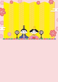 ひな祭り・桃の節句 集客チラシ_デザインテンプレート画像0107