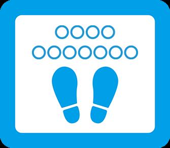 ソーシャルディスタンス用のフロア誘導シール(長方形:サイズ小)【FL-D-0006】