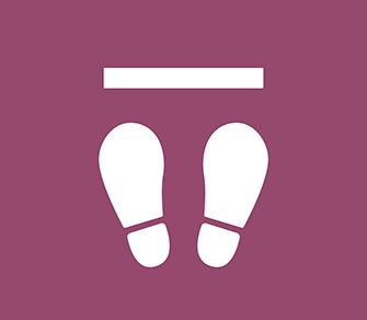 ソーシャルディスタンス用のフロア誘導シール(長方形:サイズ小)【FL-D-0016】