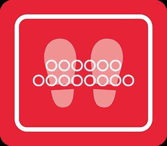 ソーシャルディスタンス用のフロア誘導シール(長方形:サイズ小)【FL-D-0033】