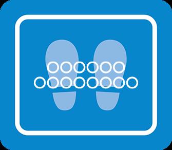 ソーシャルディスタンス用のフロア誘導シール(長方形:サイズ小)【FL-D-0034】