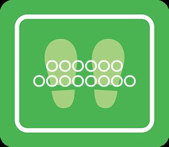 ソーシャルディスタンス用のフロア誘導シール(長方形:サイズ小)【FL-D-0035】