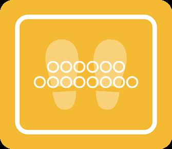 ソーシャルディスタンス用のフロア誘導シール(長方形:サイズ小)【FL-D-0036】