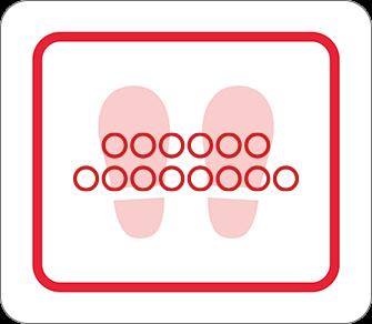 ソーシャルディスタンス用のフロア誘導シール(長方形:サイズ小)【FL-D-0037】