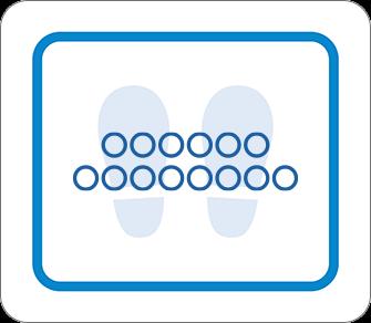 ソーシャルディスタンス用のフロア誘導シール(長方形:サイズ小)【FL-D-0038】
