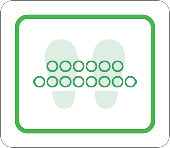 ソーシャルディスタンス用のフロア誘導シール(長方形:サイズ小)【FL-D-0039】
