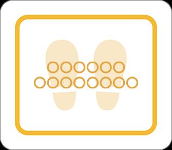 ソーシャルディスタンス用のフロア誘導シール(長方形:サイズ小)【FL-D-0040】