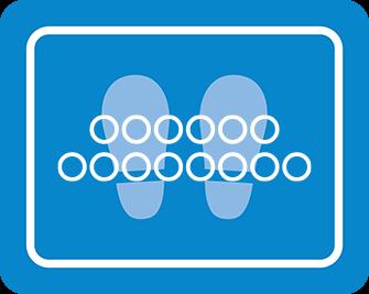 ソーシャルディスタンス用のフロア誘導シール(長方形:サイズ大)【FL-D-0106】